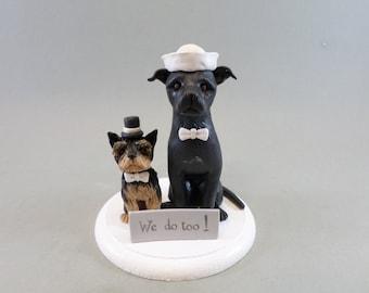 Customized Dog Wedding Cake Topper