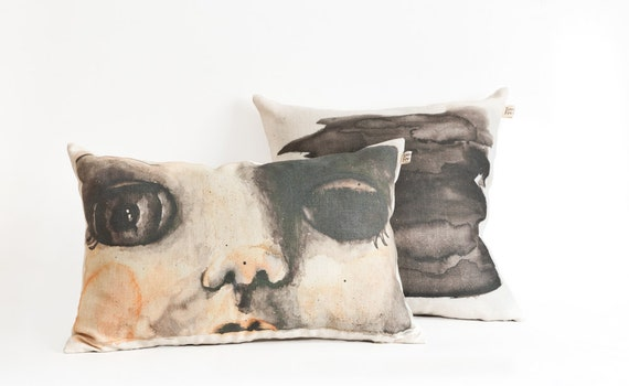 How To Make A Doll Decorative Pillow : Decorative pillow set doll face scatter cushion by toucheefeelee1