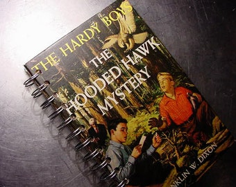 HARDY BOYS JOURNAL Hooded Hawk Mystery Vintage Altered Book Notebook