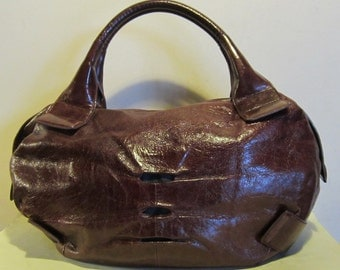 Splendid leather handbag, burgundy, excellent condition, Tosca Blue, Italy