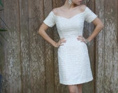 White fully sequined cocktail dress perfect for Christmas and New Year's.