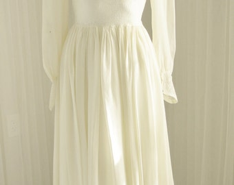 Silk Rayon Georgette and Lace Negligee Alternative Wedding Dress