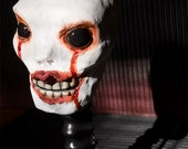 Just A Bobble Head- OOAK Hand Sculpted Hand Painted Creepy Smiley Spooky Skull Face Bobble Head