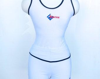 SALE Sabrina White Vintage Gym Set