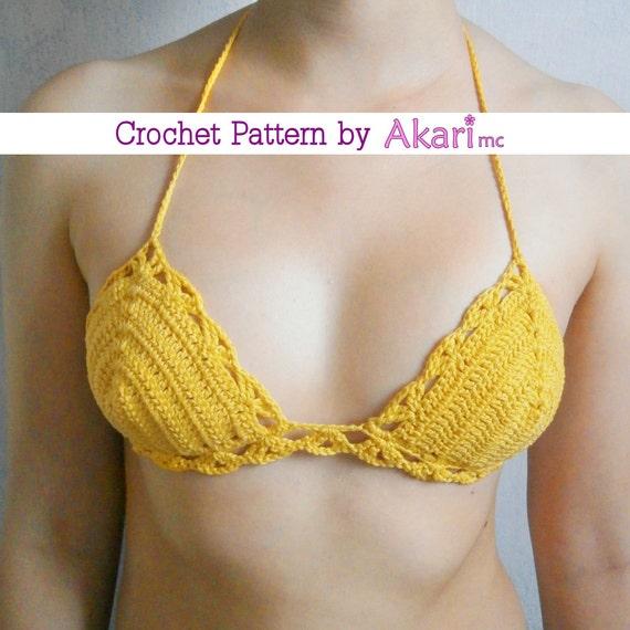 Pattern for triangle top bikini