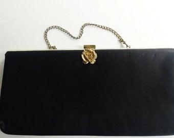 Vintage Black Evening Clutch