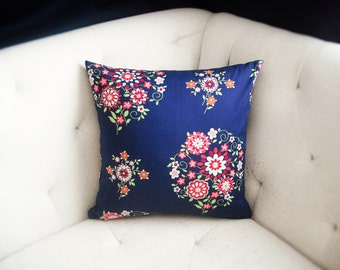 Amy Butler Love Print 16x16 Memento in Midnight Purple Pillow Cover
