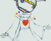 The Pincushion Queen a puppet of Tim Burton's Tragic Toy