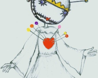 The Pin Сushion Queen a puppet of Tim Burton Tragic Toy