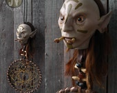 Fantasy Occult Voodoo Troll with Dreamcatcher