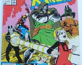 Fantastic Four vs the X Men, Vintage Comic Book  Marvel No. 3 in Series April 1987