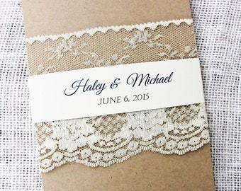 DIY Rustic Wedding Invitation, Rustic Wedding Invitation,  Lace Wedding Invitation Suite, Printable wedding invitation, DIY wedding