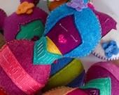Sleeping Geisha Doll - Plush Toy - Blue