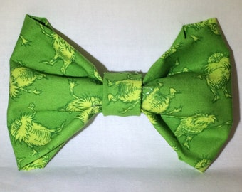Dr. Seuss' The Lorax Green Hair Bow