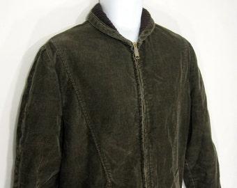 Vintage Penneys Towncraft Corduroy Clicker Coat / Jacket Sz.M 1960's