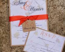 Camo wedding Invitation Sample, Rustic Camo Wedding, Winter Camo Invitation, White Camouflage Invitation, Rustic Wedding, Elegant camo