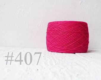 Laceweight Linen yarn - neon pink #407