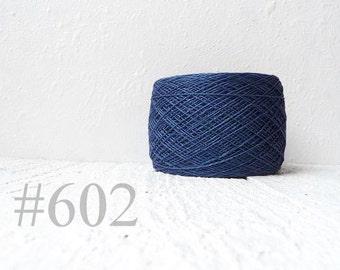 midnight blue color linen thread # 602