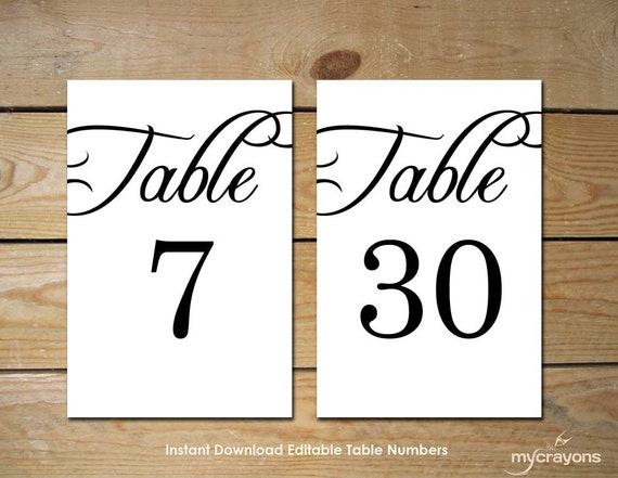 rustic wedding printable table numbers by mycrayonspapeterie. Black Bedroom Furniture Sets. Home Design Ideas