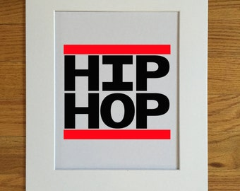 "HIP HOP Poster Print 14"" X 11"""