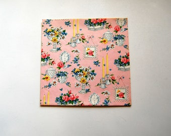 Mid-Century Bridal Shower/Wedding/Feminine Wrapping Paper, Vintage Gift Wrap