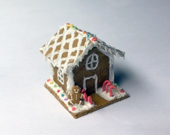 1:12 Scale Dollhouse Miniature Gingerbread House, Made to Order