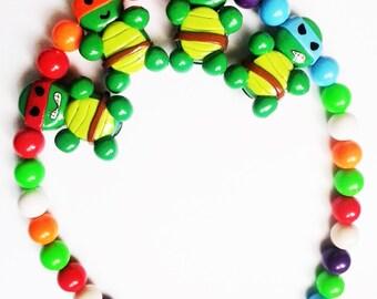 TMNT (teenage mutant ninja turtles)  beaded necklace