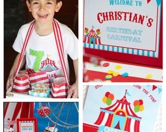 Carnival Birthday Invitation/Circus Birthday Invitation/Carnival Printables/Circus Birthday/Carnival Birthday/Carnival Party Decor/Carnival