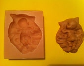 BABY ON BLANKET Food Grade Silicone Press Mold For Fondant, Chocolate etc.