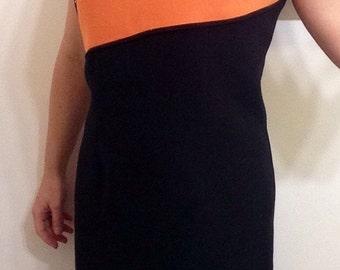 1980's Vintage color block shift dress