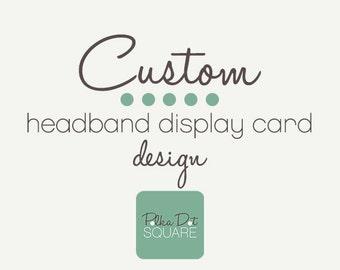 Headband Card Bow Card Custom OOAK One of a kind Printable design