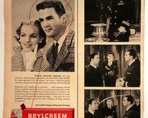 1930s Brycreem Ad - Grooming - Men - Hair Cream - Pomade - Wax - Wall Art - Decor - Retro Vintage Magazine Advertising - Gift