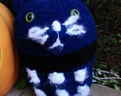 Time Traveling Kitty, Hand Knit, choice of sizes, prices vary accordingly