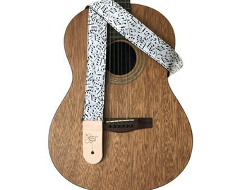 """Music Note Guitar Strap - 2 """" wide"""