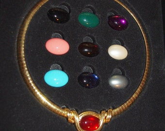 Joan Rivers Omega Slide Necklace -Interchangeable - S1990