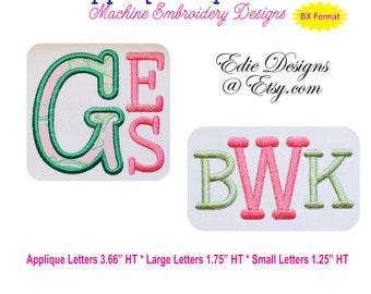 Applique Alphabet Ver 10 Machine Embroidery Designs BX Format Monograms Fonts Digital Download