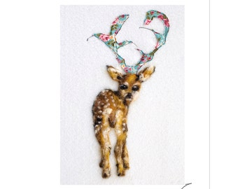 Deer print, woodland animal print