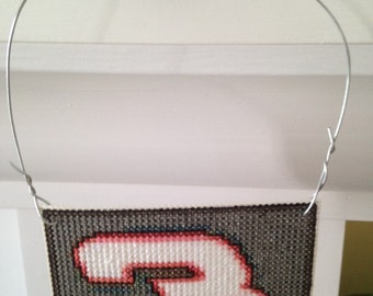 New Dale Earnhardt Sr. Christmas Cross Stitch Ornament