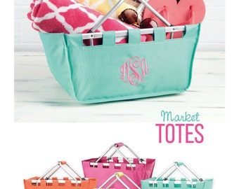 Personalized Market Tote Mint
