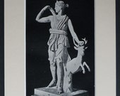 Greek Print of Diana of Versailles Artemis the Goddess of hunting, wilderness, animals, childbirth, virginity and protector of young girls