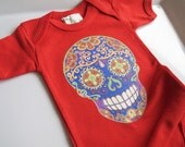 Trendy Mendhi Skull Tattoo baby clothes Hippie Baby 3 6 18 24 months Baby Shower gift boy girl Hipster 1 year 2 year