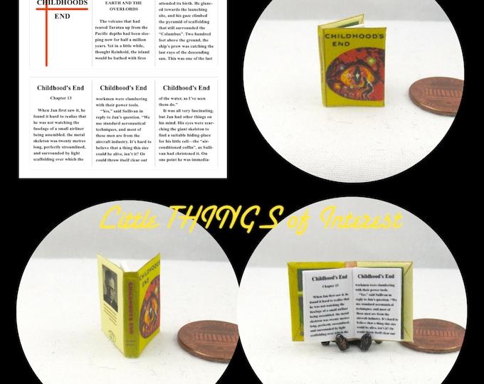 CHILDHOODS END READABLE Miniature Book Dollhouse 1:12 Scale Book Arthur C. Clarke