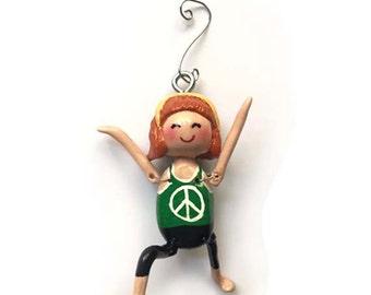 Namaste Collection:  Brenda Mae (Ornament) - Warrior 1 Pose