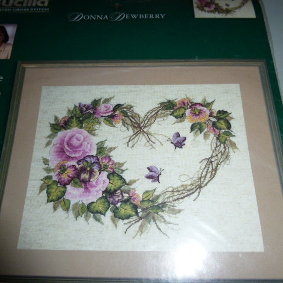 Jan Hagara Cross Stitch: Bucilla Grapevine Wreath With Floral Counted Cross Stitch Kit