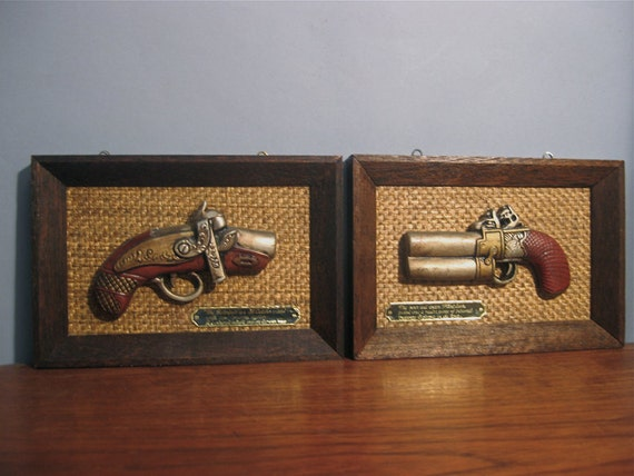 Quirky Wall Decoration : Vintage quirky sculpted gun wall decor japan by bbatemporium