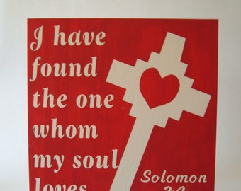 CLOSEOUT SALE* Solomon 3:4 12x12 Canvas
