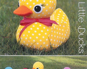 """Pattern """"Five Little Ducks"""" Soft Sculpture, Stuffed Toy, Softie, Cloth Toy Sewing Pattern by Melly & Me (MM134)"""