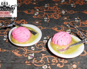 Zombie Dinner, Brain on a Plate-Great for Horror fans, goth, Halloween, or people who love the weird and macabre!