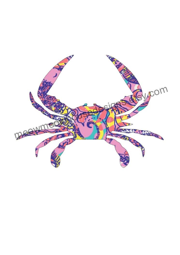 Maryland Flag Crab Decal Maryland Blue Crab Decal