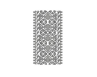 Machine Embroidery Design Instant Download - Blackwork Trim Jane Seymor